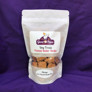Grain free peanut butter dog treats - large size - Good Paws Bakery