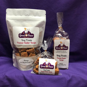 Grain free peanut butter dog treats - all sizes - Good Paws Bakery