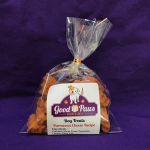 Grain free parmesan cheese dog treats - small size - Good Paws Bakery