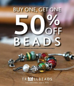 Trollbeads Buy One Get One 50% Off Promotion Begins