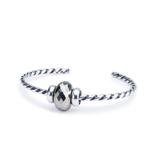 Trollbeads Pyrite Twisted Silver Bangle