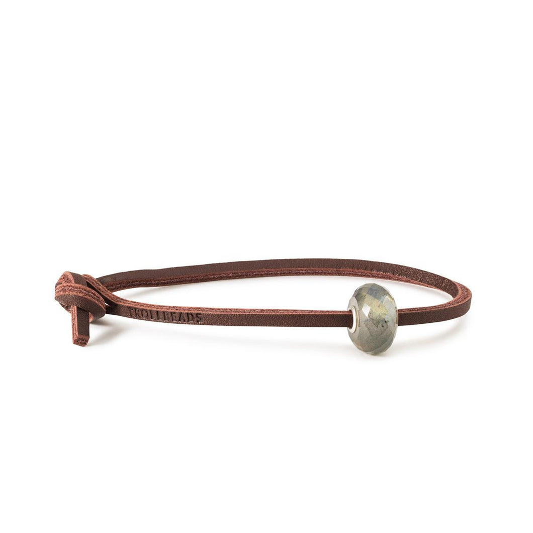 Trollbeads Labradorite Single Leather Bracelet (4327550025771)