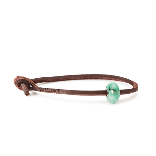 Trollbeads Amazonite Single Leather Bracelet (4327551828011)