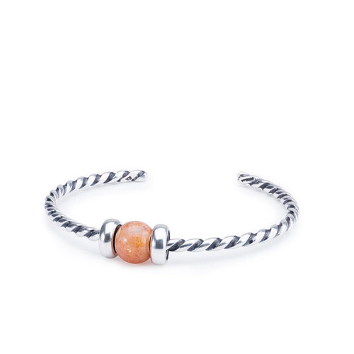 Trollbeads Round Sunstone Twisted Bangle