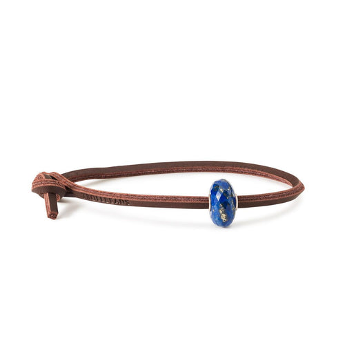Trollbeads Lapis Lazuli Single Leather Bracelet (4327554121771)