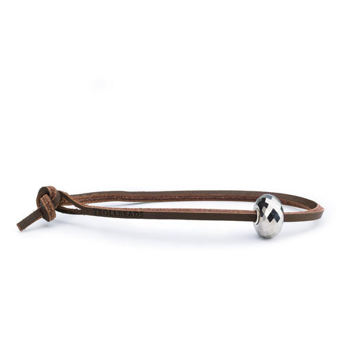 Trollbeads Pyrite Single Leather Bracelet