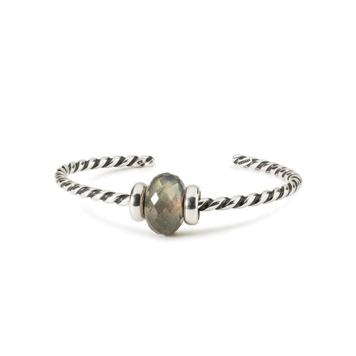 Trollbeads Labradorite Twisted Bangle (4327528464427)