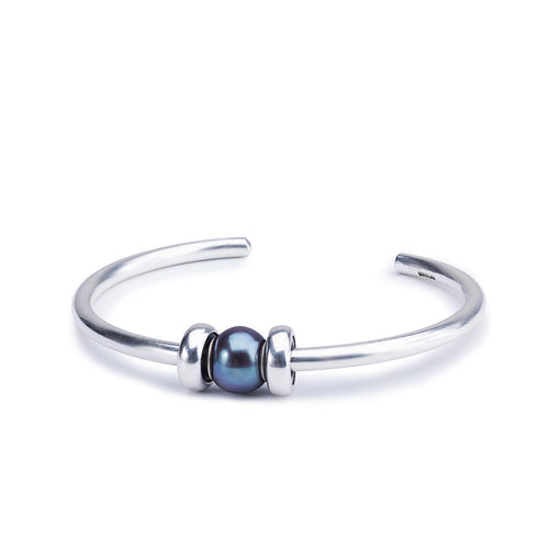 Great Lakes Boutique Peacock Pearl Silver Bangle