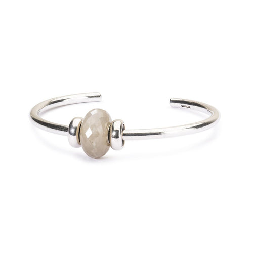 Great Lakes Boutique Grey Moonstone Silver Bangle