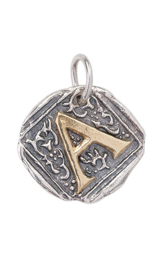 Waxing Poetic Century Insignia Charm - Letter A (4357313462315)