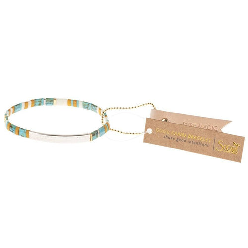 Scout Curated Wears Good Karma Miyuki Bracelet | Pure Magic - Turquoise / Silver (4384892223531)