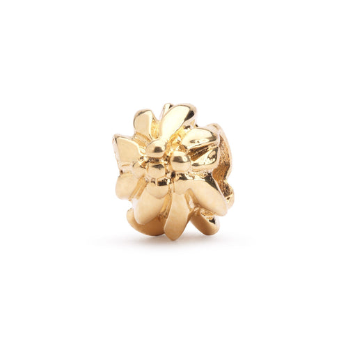 Trollbeads Gold Mountain Flower Bead (1520986947627)