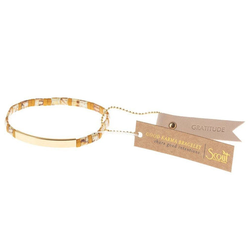 Scout Curated Wears Good Karma Miyuki Bracelet | Gratitude - Amber / Gold (4384895696939)