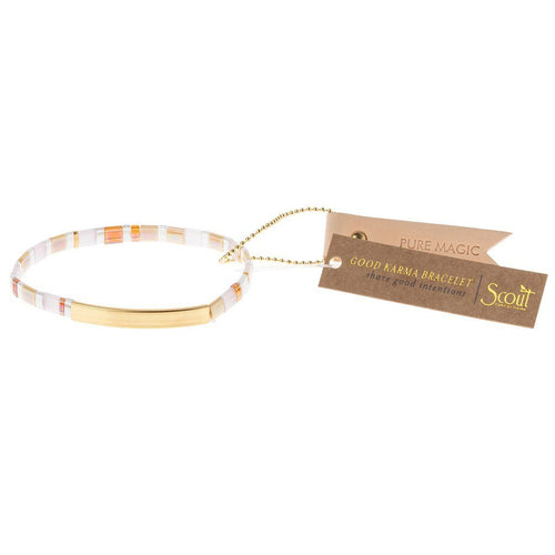 Scout Curated Wears Good Karma Miyuki Bracelet | Pure Magic - Neutral / Gold (4384898252843)