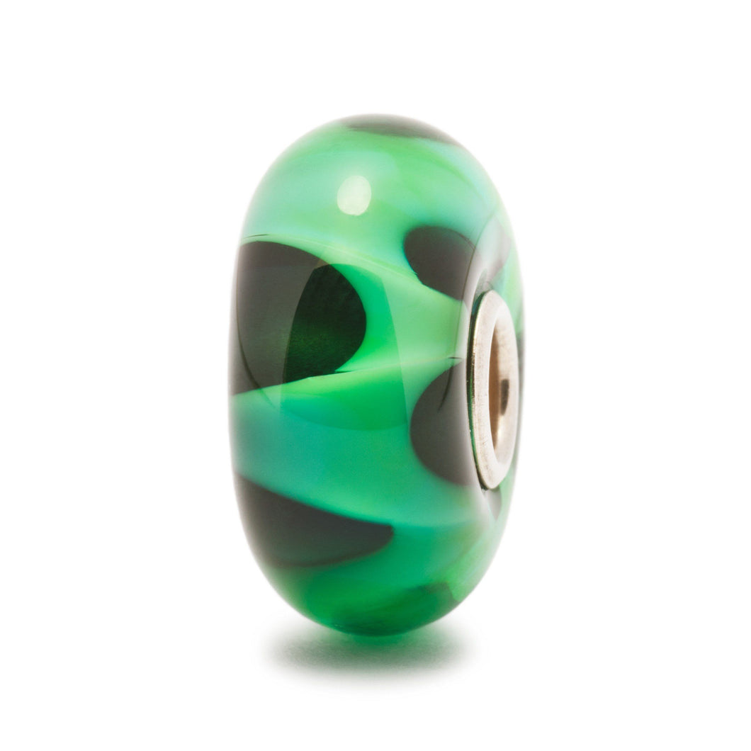Trollbeads Green Wave Bead (1520987635755)