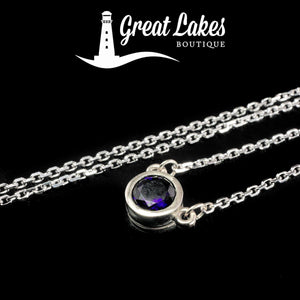 Great Lakes Boutique White Gold & Amethyst Necklace