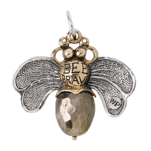 Waxing Poetic Bee Brave Pendant - Pyrite (4322237120555)