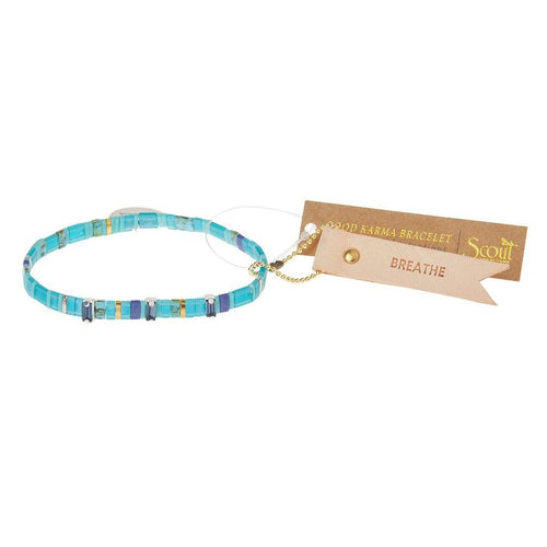 Scout Curated Wears Scout Curated Wears Good Karma Miyuki Charm Bracelet | Breathe - Ocean Sparkle & Silver