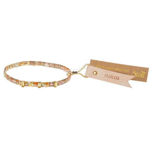 Scout Curated Wears Scout Curated Wears Good Karma Miyuki Charm Bracelet | Fearless - Tortoise Sparkle & Gold