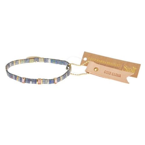 Scout Curated Wears Scout Curated Wears Good Karma Miyuki Charm Bracelet | Good Karma - Oil Slick Sparkle & Gold