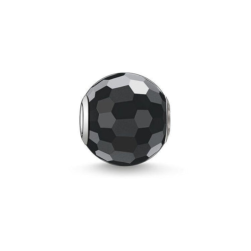 Thomas Sabo Obsidian Faceted Bead (4377675530283)