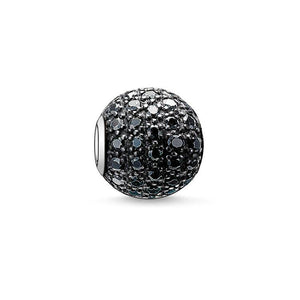 Thomas Sabo Black Crushed Pavé Bead (4374580101163)
