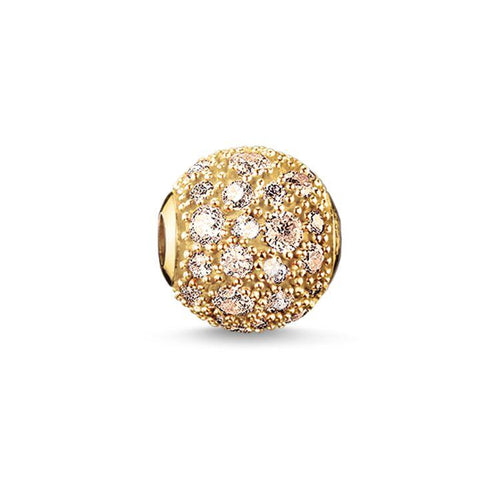 Thomas Sabo Gold Crushed Pavé Bead (4374583443499)
