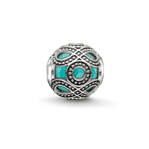 Thomas Sabo Ornate Ethnic Turquoise Bead (4377655738411)