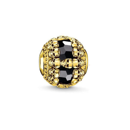 Thomas Sabo Black Skulls Gold (4377634406443)