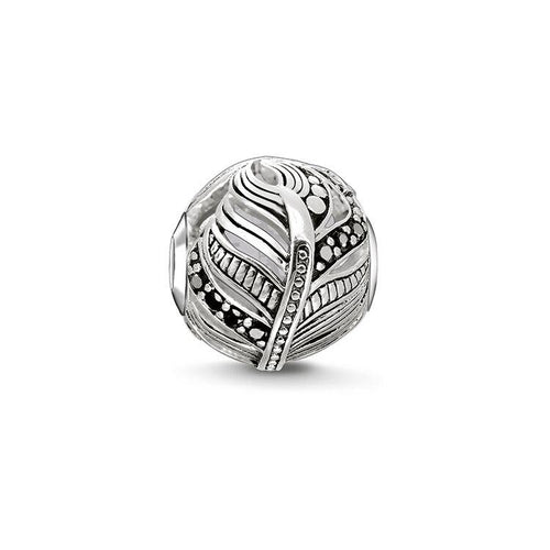 Thomas Sabo Feather Bead with Zirconia (4377630670891)