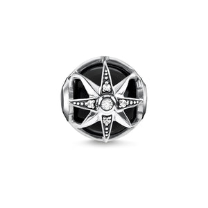Thomas Sabo Black Royalty Star Bead (4373227798571)