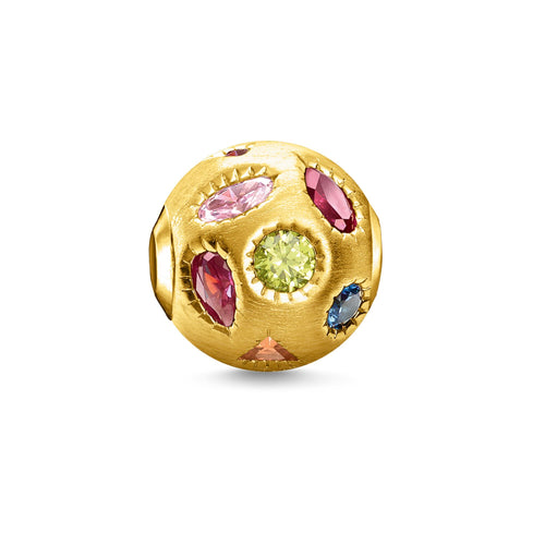 Thomas Sabo Colorful Stones Bead Gold (4373221638187)