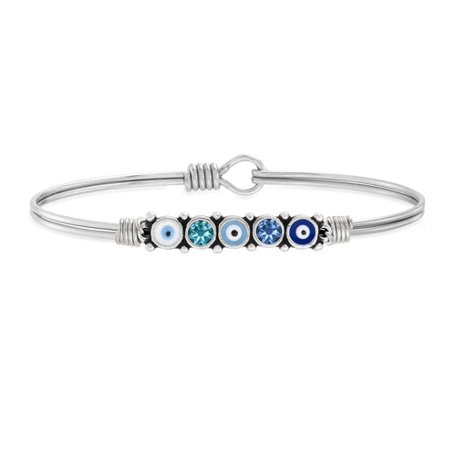 Luca + Danni Blue Ombre Evil Eye Bangle