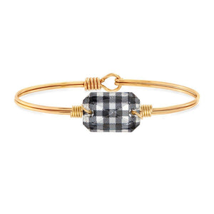 Luca + Danni Dylan Bangle in Black Gingham