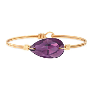 Luca + Danni Teardrop Bangle in Purple