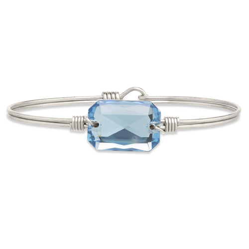 Luca + Danni Dylan Bangle Bracelet in Aquamarine (1764462592043)