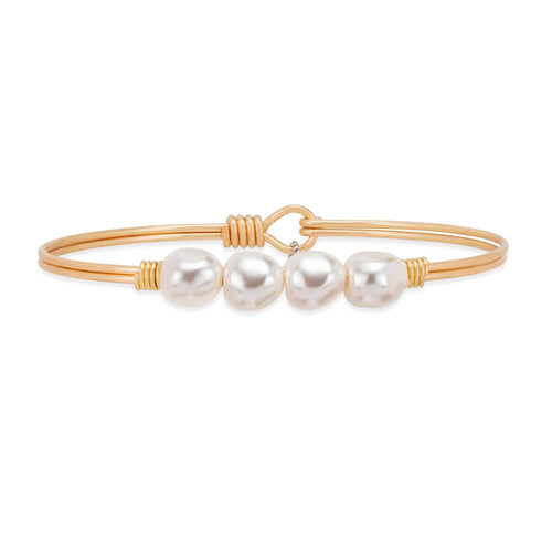 Luca + Danni Baroque Crystal Pearl Bangle Bracelet