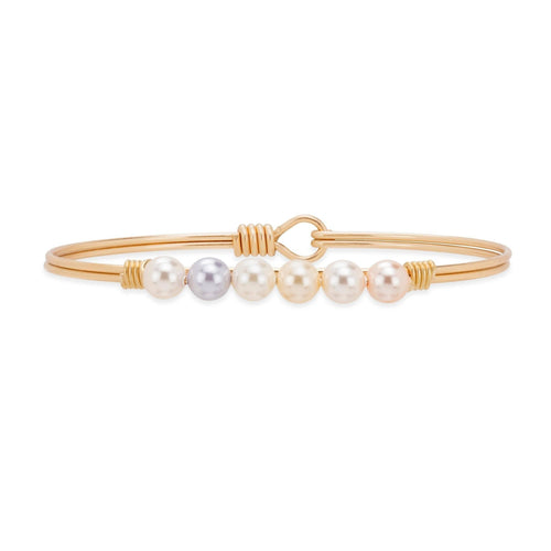 Luca + Danni Ombre Crystal Pearl Bangle Bracelet