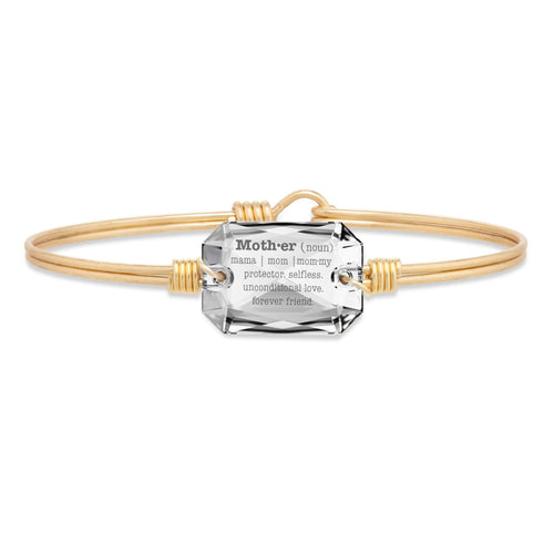 Luca + Danni Mom Definition Bangle Bracelet in Crystal