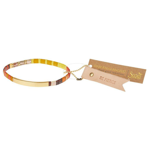 Scout Curated Wears Scout Curated Wears Good Karma Miyuki Bracelet | Be Fierce - Sunset & Gold