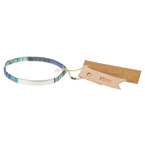 Scout Curated Wears Scout Curated Wears Good Karma Miyuki Bracelet | Brave - Cobalt & Silver