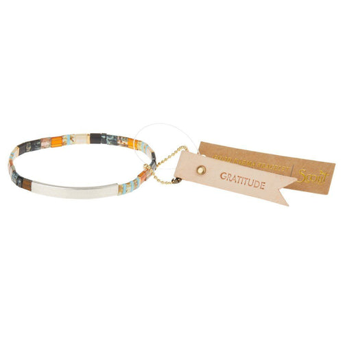 Scout Curated Wears Scout Curated Wears Good Karma Miyuki Bracelet | Gratitude - Earth Sky & Silver