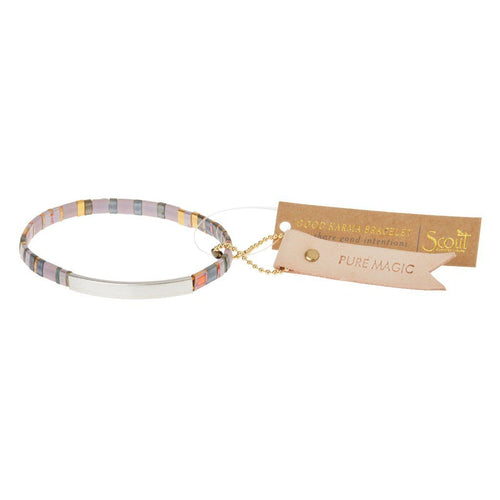 Scout Curated Wears Scout Curated Wears Good Karma Miyuki Bracelet | Pure Magic - Dusk & Silver