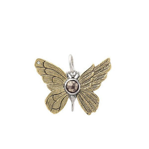 Waxing Poetic Ascension Butterfly with Pyrite Charm
