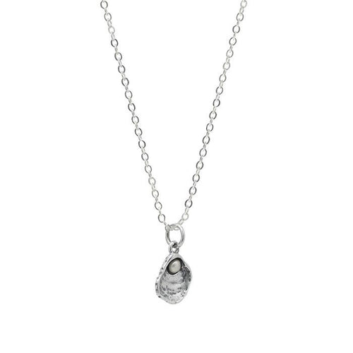 Waxing Poetic Cultivate Love Oyster Necklace with One Pearl