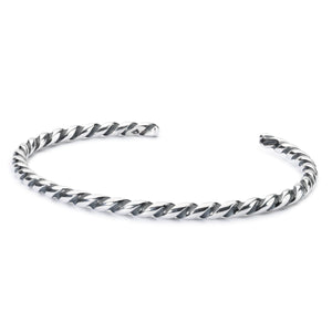 Trollbeads Twisted Silver Bangle (1520893853739)