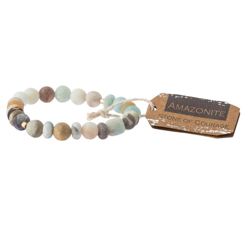 Scout Curated Wears Amazonite Stone Bracelet - Stone of Courage (1733258412075)