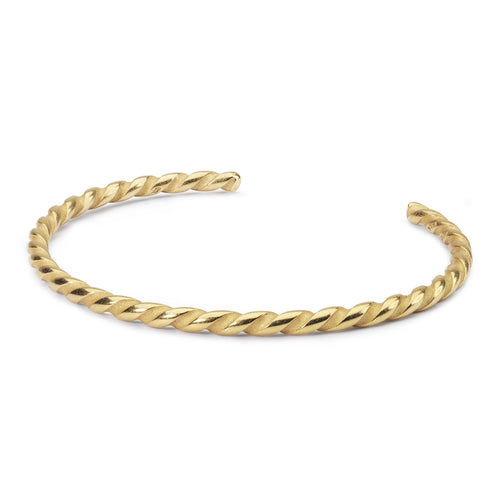 Trollbeads Twisted Gold Plated Bangle (1520918757419)