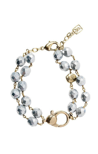 Waxing Poetic Ensemble Bracelet - Bright Silver (4357556142123)