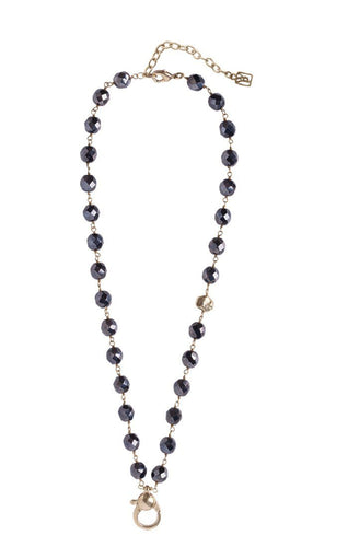 Waxing Poetic Ensemble Necklace - Hematite (4357546704939)